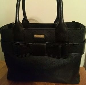 SOLD Kate Spade Black Bow Handbag